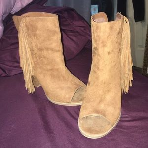dv by Dolce Vita suede booties with fringe sides
